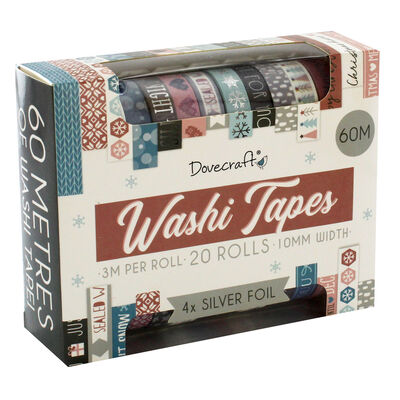 Dovecraft Christmas Fashion Washi Tape Box - 20 Rolls image number 1