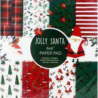 Jolly Santa Paper Pad 6 x 6 Inch