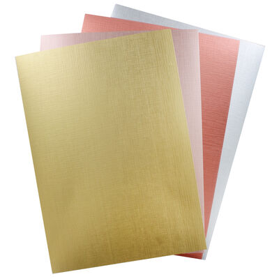 Dovecraft Metallic Textured A4 Card Pack x 8 Sheets image number 2