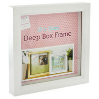 White Deep Box Frame - 15cm X 15cm