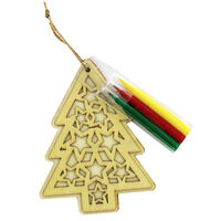 Colour Your Own 3D Wooden Christmas Tree