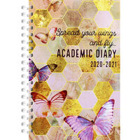 A5 Spread Your Wings Day a Page 2020-21 Academic Diary