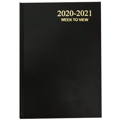 A5 Black Week To View 2020-21 Academic Diary image number 1