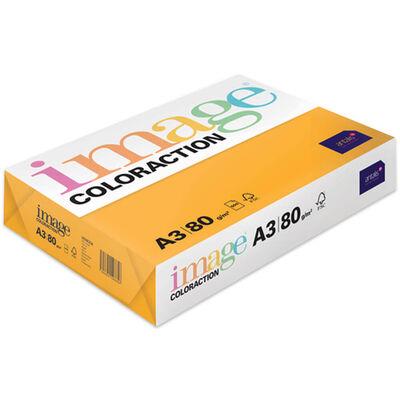 A3 Mid Orange Venezia Image Coloraction Copy Paper: 500 Sheets image number 1
