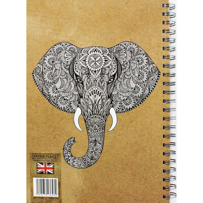 A4 Wiro Elephant Remember Lined Notebook image number 3