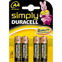 Duracell Simply AA Batteries - Pack Of 4