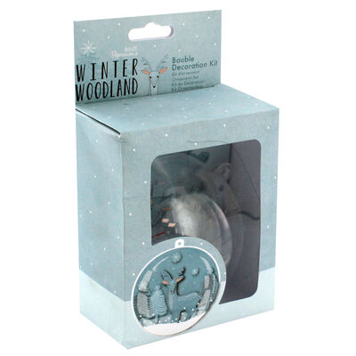 Bauble Decoration Kit - Winter Woodland image number 1