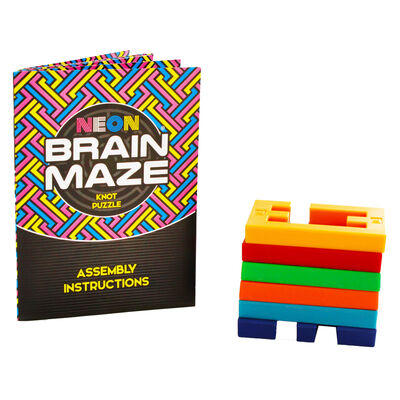 Neon Brain Maze Advanced Locking Knot Puzzle image number 4