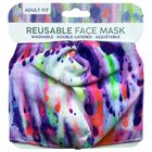 Multi-Coloured Ink Blot Reusable Face Mask image number 1