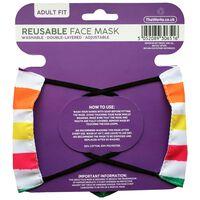 Rainbow Striped Reusable Face Mask