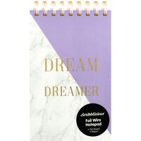 Dream On Dreamer Lilac Marble Foil Wiro Notepad