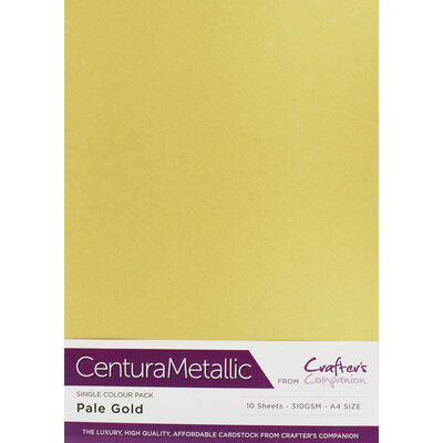 A4 Centura Metallic Pale Gold Card: 10 Sheets image number 1