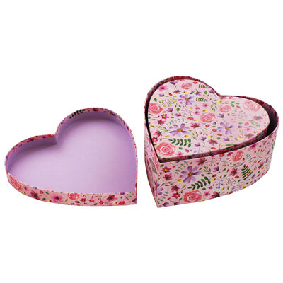 Floral Heart Shaped Storage Box - 2 Pack image number 3