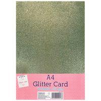 A4 Gold Glitter Card: Pack of 10