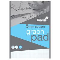 Silvine A4 Graph Squared Paper: 5mm