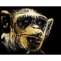 A4 Engraving Art Set: Almost Human Ape
