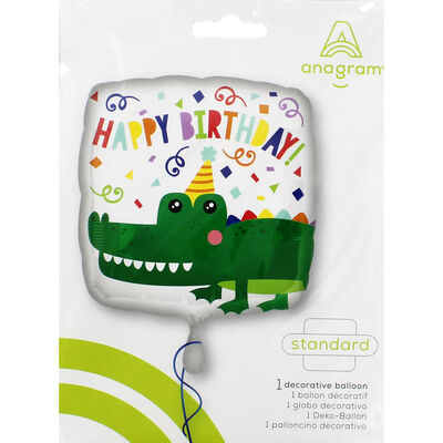 17 Inch Happy Birthday Gator Helium Balloon image number 2