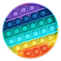 Pop 'N' Flip Bubble Popping Fidget Game: Rainbow Circle