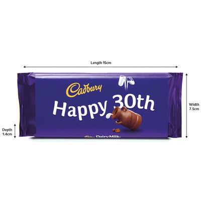 Cadbury Dairy Milk Chocolate Bar 110g - Happy 30th image number 3