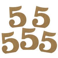 MDF Number 5: Pack of 5