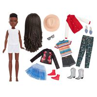 Creatable World Deluxe Character Kit: Black Braided Hair