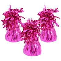 Pink Tinsel Balloon Weights: Pack of 3
