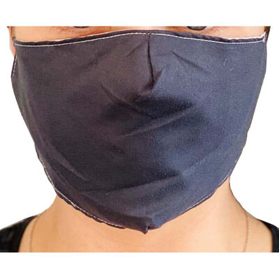 Black Reusable Face Covering image number 3