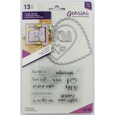 Gemini Shaker Card Stamp and Die Set - Love Always image number 1