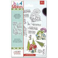 Natures Garden Gnomes Acrylic Stamp - Gnome Village