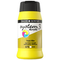 System 3 Acrylic Paint: Process Yellow 500ml