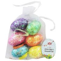 Glitter Eggs in Keepsake Bag - 6 Pack