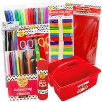 Kids Art Essentials & Red Caddy Bundle