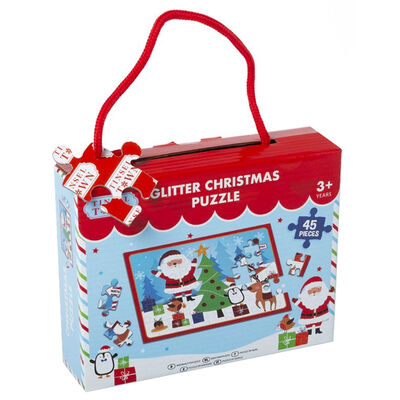 Glitter Christmas 45 Piece Jigsaw Puzzle image number 1
