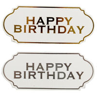 Dovecraft Essentials Die Cut Toppers - Happy Birthday - 12 Pack