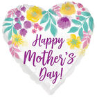 18 Inch Mother's Day Heart Helium Balloon image number 1