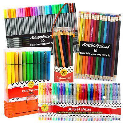 Multi-Coloured Pens & Pencils Bundle image number 1