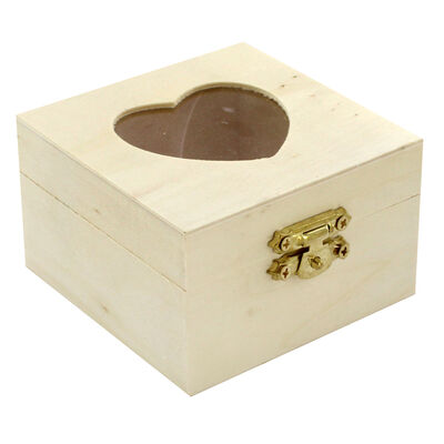 Small Wooden Heart Box image number 1