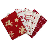 Christmas Print Fat Quarters: Pack of 5