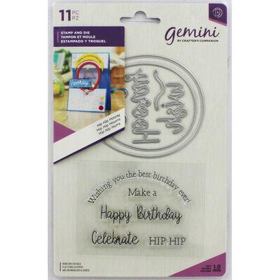 Gemini Shaker Card Stamp and Die Set - Hip Hip Hooray image number 1