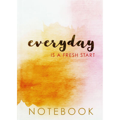 A5 Case Bound Everyday Is A Fresh Start Notebook image number 1