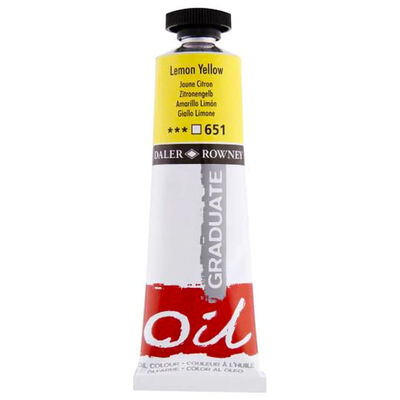Graduate Oil Paint Lemon Yellow 38ml image number 1