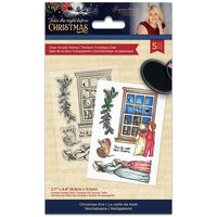 Sara Signature Acrylic Stamp: Twas the Night Before Christmas: Chistmas Eve