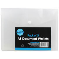 A5 Document Wallets - Pack Of 5