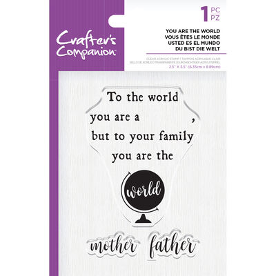 Crafters Companion Clear Acrylic Stamp - You are the World image number 1