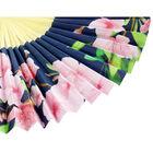 Navy Floral Paper Fan image number 3