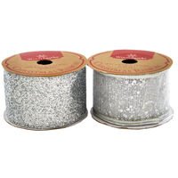 Assorted Red and Silver Christmas Ribbon - 4m
