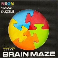 Neon Magic Spiral Puzzle