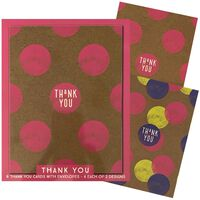 Assorted Thank You Notecards: Pack of 8