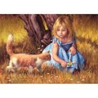 Girl and Kitten 500 Piece Jigsaw Puzzle image number 2