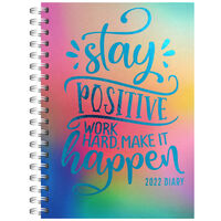 A5 Stay Positive 2022 Day a Page Diary